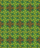 Green Colors pinwheel Pattern. Korean traditional Pattern Design Royalty Free Stock Photo