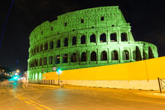 Green colosseum in Rome Royalty Free Stock Photos