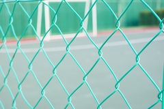 Green colour chain link fencing Royalty Free Stock Image