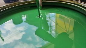 The green colour paint Royalty Free Stock Photo