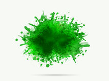Green colour in stain shape. Royalty Free Stock Photography