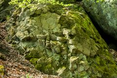 Green coloured basalt royalty free stock photography