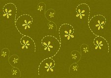 Green Coloured Flower Pattern Stock Image