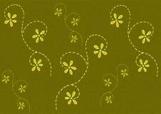Green Coloured Flower Pattern Stock Image