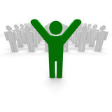 Green coloured man Royalty Free Stock Images