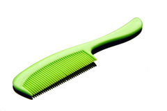 Green comb. To the hair Royalty Free Stock Image