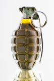 Green combat pineapple grenade Royalty Free Stock Photo