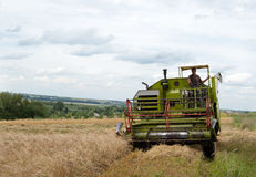 Green combine Stock Images