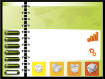 Green combined with orange web template Royalty Free Stock Images