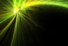 Green comet royalty free stock photos