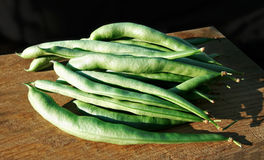 Green common beans Phaseolus vulgaris pods Stock Photo
