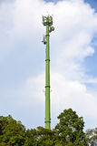 Green communication towers Royalty Free Stock Photo