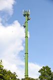 Green communication towers Royalty Free Stock Images