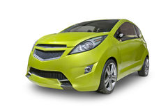 Green Compact Car Stock Image