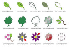 Green companies logos. Set of logos especially thought for green companies and society which care environment Stock Images