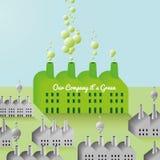 Green Company e fondo astratto della fabbrica Fotografie Stock