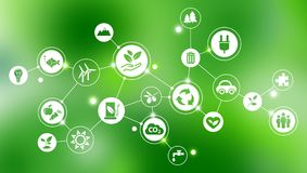 Green company / environmental protection design royalty free illustration