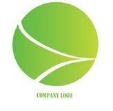 Green company logo. Green abstract company logo illustration Stock Photography