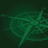 Green compass background Royalty Free Stock Image