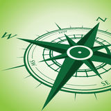 Green compass background Royalty Free Stock Images