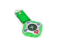 Green compass with the strap Royalty Free Stock Image