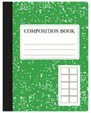Green Composition Book Stock Photo
