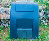 Green composter. A green composter in the garden Stock Photography