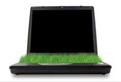 Green computer Stock Photo