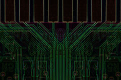 Green computer chip background Stock Images