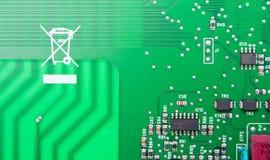 Green computer circuit Stock Image