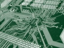 Green Computer Circuit Board Stock Photos