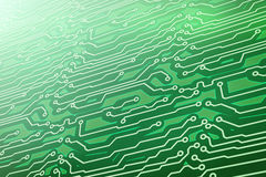 Green computer circuit board. Computer generated hi-tech background. green computer circuit board Royalty Free Stock Photography