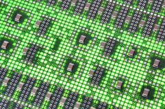 Green computer circuit board Stock Photography