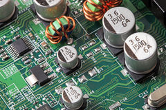 Green computer circuit board Stock Images