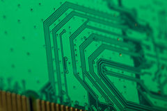 Green Computer circuit board Royalty Free Stock Photo