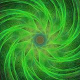Green computer generated spiral fractal background. Vector art Royalty Free Stock Images