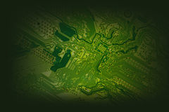 Green Computer main board Royalty Free Stock Photography