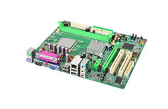 Green computer motherboard Royalty Free Stock Images