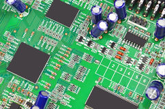 Green computer motherboard Royalty Free Stock Image