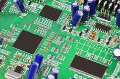 Green computer motherboard Stock Photos