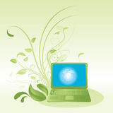 Green computer technology royalty free illustration