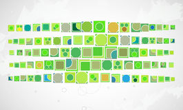 Green computer technology with triangle background. internet inf Stock Images