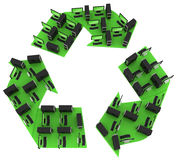 Green computers. Recycling PC concept Stock Image