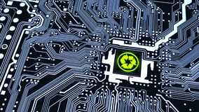 Green computing recycle cpu circuit board Royalty Free Stock Images