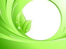 Green concept. Abstract background and green leaves stock illustration