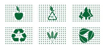 Green concept icon set Stock Photos