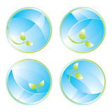 Green concept icons Stock Image