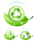 Green concept icons royalty free illustration