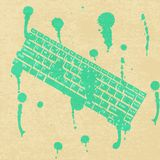 Green concept keyboard background. Grungy symbol computer. Royalty Free Stock Image