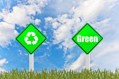 Green concept sign Stock Photo